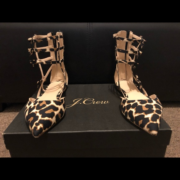J. Crew Shoes - Jcrew Collection caged leopard shoes